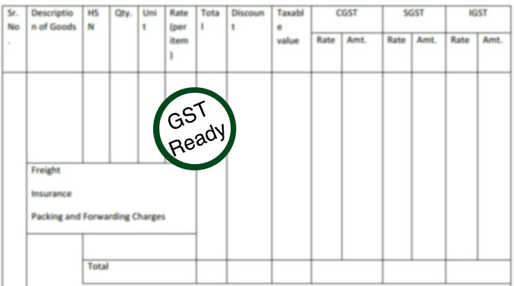 GST Invoice in Book Keeper